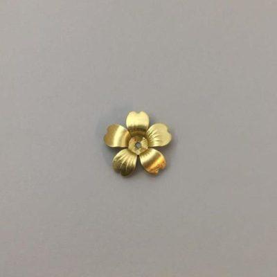 Ορειχάλκινο Πρεσσαριστό Λουλούδι 16Χ16mm