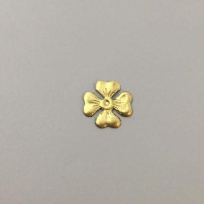 Ορειχάλκινο Πρεσσαριστό Λουλούδι 14Χ14mm
