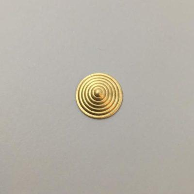 Ορειχάλκινο Πρεσσαριστό Στρογγυλό 15X15mm