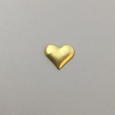 Ορειχάλκινη Πρεσσαριστή Καρδιά 15X18mm