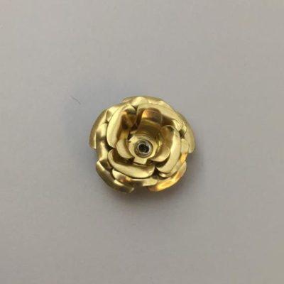 Ορειχάλκινο Πρεσσαριστό Λουλούδι 24X24mm