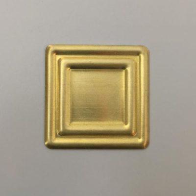 Ορειχάλκινο Πρεσσαριστό Τετράγωνο 35Χ35mm