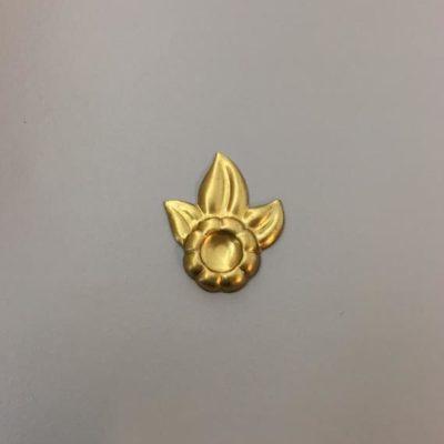 Ορειχάλκινο Πρεσσαριστό Λουλούδι 33X27mm