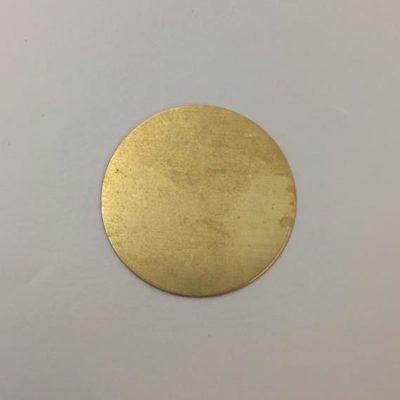 Ορειχάλκινος Πρεσσαριστός Δίσκος Φ45mm