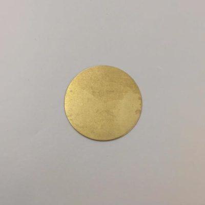 Ορειχάλκινος Πρεσσαριστός Δίσκος Φ30mm