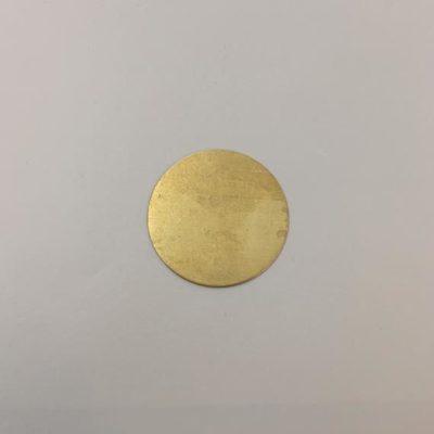Ορειχάλκινος Πρεσσαριστός Δίσκος Φ24mm