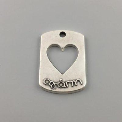 Μεταλλικό Χυτό Στοιχείο Ζάμακ Ταυτότητα Αγάπη 40,2Χ27,5mm