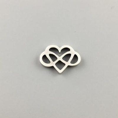 Μεταλλικό Χυτό Στοιχείο Ζάμακ Άπειρο με Καρδιά 7Χ17,5mm