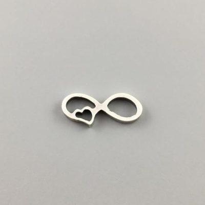 Μεταλλικό Χυτό Στοιχείο Ζάμακ Άπειρο Καρδιά 7,5Χ17,5mm