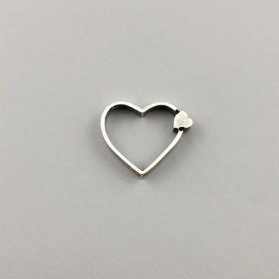 Μεταλλικό Χυτό Στοιχείο Ζάμακ Καρδιά 12Χ15mm