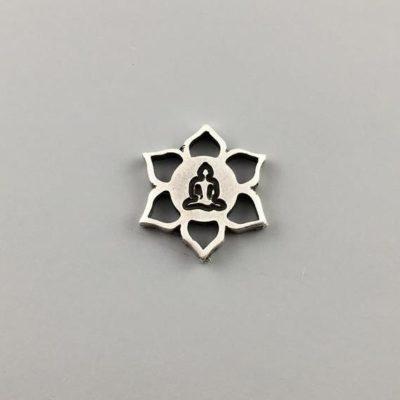 Μεταλλικό Χυτό Στοιχείο Ζάμακ Σύμβολο τηε Γιόγκα 16Χ14mm