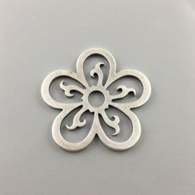 Μεταλλικό Χυτό Στοιχείο Ζάμακ Λουλούδι 59Χ61mm
