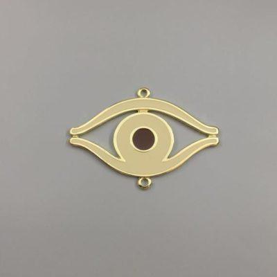 Μεταλλικό Χυτό Στοιχείο Ζάμακ Μάτι με Σμάλτο 69Χ48mm
