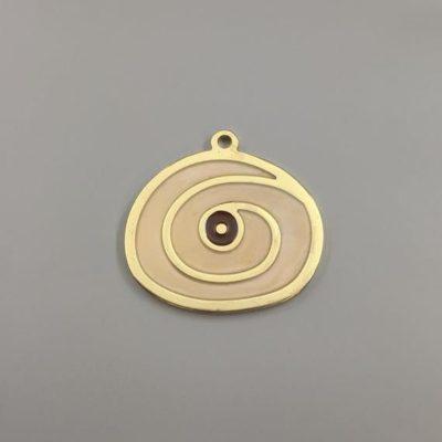 Μεταλλικό Χυτό Στοιχείο Ζάμακ Μάτι με Σμάλτο 57Χ54mm
